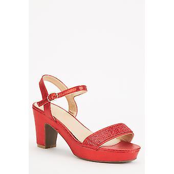 Glinsterende rode blokhakken