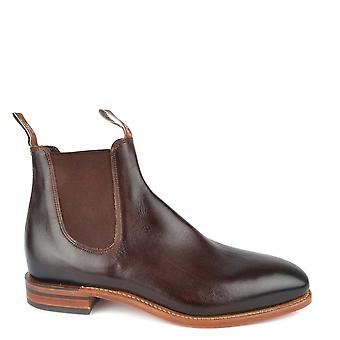 R.M. Williams Chinchilla Bordeaux Leather Chelsea Boots