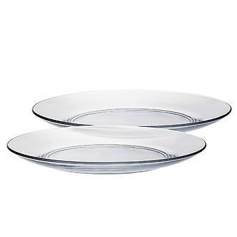 Platos para la cena de vidrio Duralex Lys - templado, resistente al calor - 235mm - paquete de 6