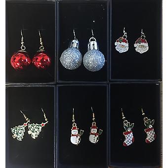 Brinco de Natal bolas de árvore de Natal prata
