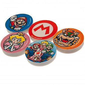 Super Mario 4pk Eraser Set