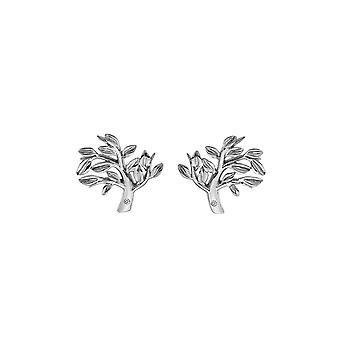 Diamantes Calientes Plata Apasionado Pendientes DE565