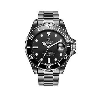 Heren eerbetoon automatisch horloge wit zilver slimme horloges datum Designer gift