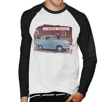 Austin A35 Saloon British Motor Heritage Men's Baseball Long Sleeved T-Shirt