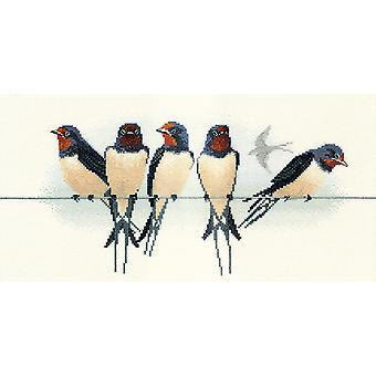 Derwentwater Designs Swallows (BB05) Cross Stitch Kit by Bothy Threads