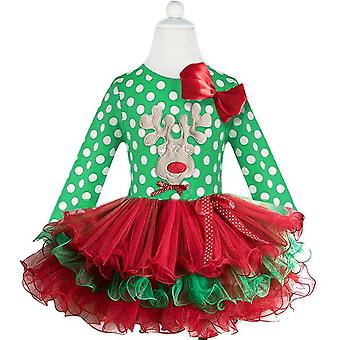 Fancy Baby Girl Carnival Santa Dress Summer Mouse Christmas Clothing Party