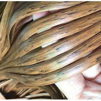 Wood Grain Color/brown Printing Gradient  Flat -tsynthetic Pe Rattan Weaving
