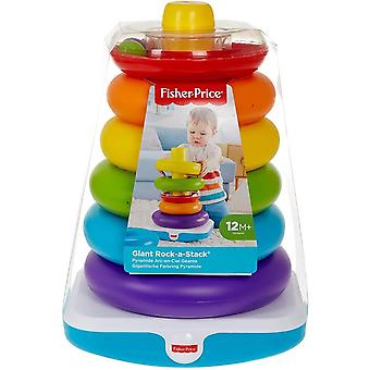 Fisher price giant rock a stack, colourful rings, shake,ring, sound for 1 year