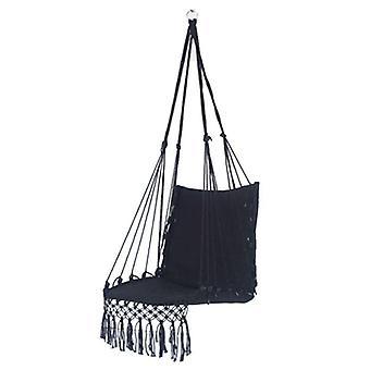 Säkerhet Beige hängande hängmatta stol, swing rep säte