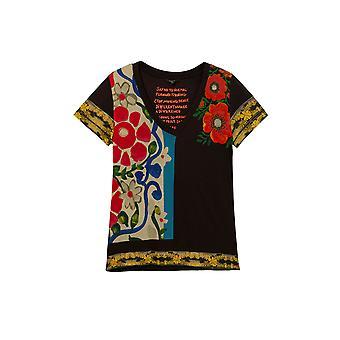 Desigual Montana V-Neck Vibrant Floral Eco T-shirt 20WWTK96