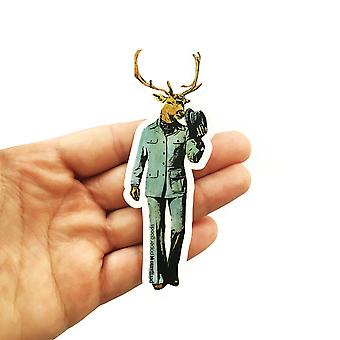 Dapper Deer Vinyl Sticker