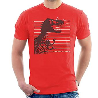 Jurassic Park T Rex Skeleton Destroying Wire Men's T-Shirt
