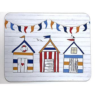 Home Living Placemats x 6 Summer Beach Huts HH2203
