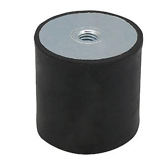 40x40MM M8 Thread Anti Vibration Metal Rubber Mounts Isolator Black