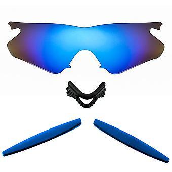 العدسات استبدال المستقطبة كيت لأوكلي M الإطار سخان الأزرق مرآة زرقاء مضادة للخدش المضادة للأشعة فوق البنفسجية 400 من قبل SeekOptics