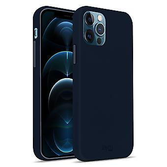 Case iPhone 12/12 Pro Silicone Premium Soft Touch Soft Feeling Jaym blue