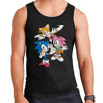 Sonic Siili Amy Rose ja hännät Men's Liivi