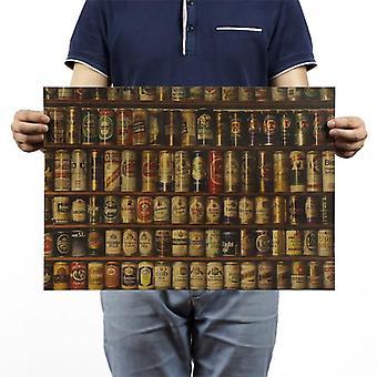 ビールコレクション ヴィンテージクラフト紙クラシック映画ポスタースクール/ウォール装飾