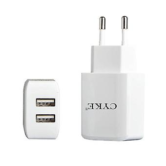 CYKE HKL-USB31 5V 2A Dual USB Wall Charger Travel Charger, EU Plug