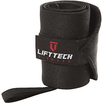 Лифт Технология Фитнес Pro Thumb Loop Подъемные Wrist Wraps - Черный