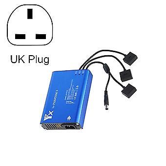 4 in 1 Parallel Power Hub Älykäs Akkuohjain Laturi DJI Phantom 3 Standard SE FPV Drone, Plug Type:UK Pistoke