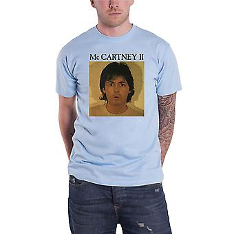 Paul McCartney T Shirt McCartney II Album Cover new Official Mens Light Blue