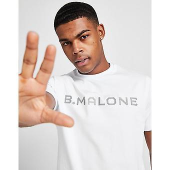 New B Malone Men's Large Logo T-Shirt White
