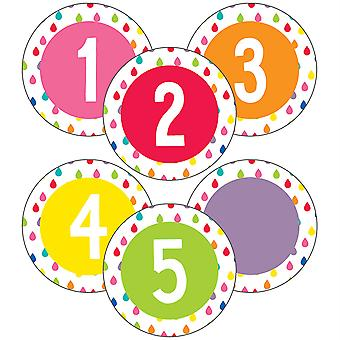 Hello Sunshine Student Numbers Mini Cut-Outs, 35 Pieces