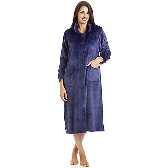 Camille LX9001 BUTTON PURP HOUSECOAT