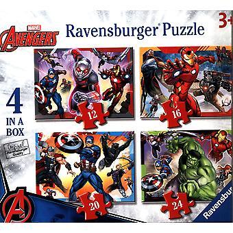 Ravensburger Marvel Avengers 4 in een doos (12, 16, 20, 24pc) legpuzzels