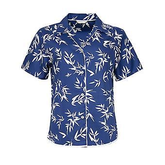 Cyberjammies Libby 4768 Women's Indigo Floral Cotton Pyjama Top