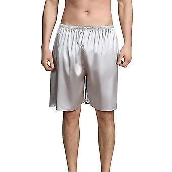 Summer Sleep Bottoms, Men Sleepwears Shorts, Comfy Silk Satin Pajama, Homewear