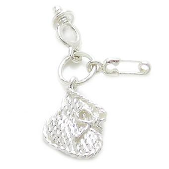Baby Set Strlng Silver Charm Bootee Dummy Safety Pin .925 X1 Bébés Charmes - 4691