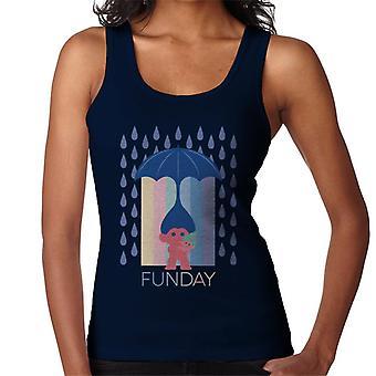 Trolls Fun Day Raining Umbrella Hair Women's Vest