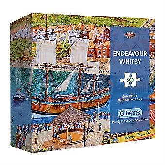 Gibsons Jigsaw Puzzle Endeavour Whitby 500 pieces Gift Collection