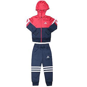 Girl's adidas Junior Kapuzen-Tracksuit in Pink