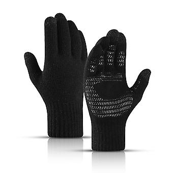 Winter Gloves And Women Touch Screen Anti-slip Silicone Gel Elastic Cuff