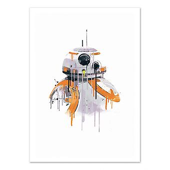 Art-Poster - BB8 Watercolor - 2Toast Design