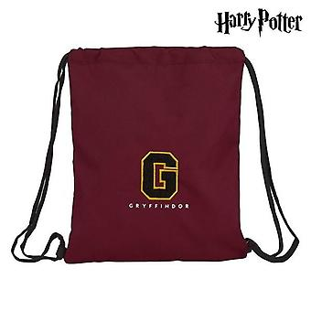 Backpack with strings harry potter black maroon