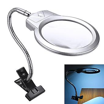 Magnifying glass clamp large lens led lighted lamp top desk jewelry magnifier magnifying glass and clamp