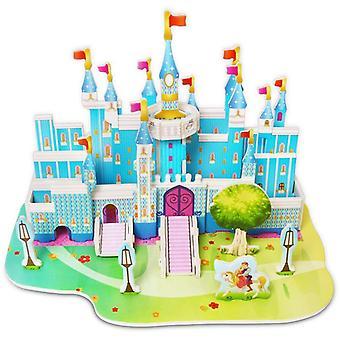 Atractivo castillo de dibujos animados 3d rompecabezas