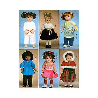 McCalls Schnittmuster 6006 18-Zoll Puppe Kleidung Jacke Rock Karate