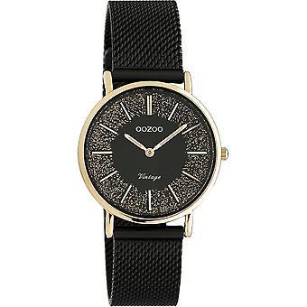 OOZOO Wristwatch Vintage Women – Black/Rose Gold C20143