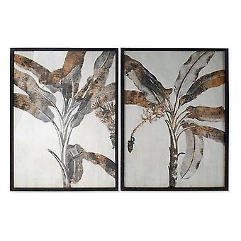Painting Dekodonia Wood Crystal Tropical Palms (2 pcs)
