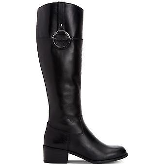 Alfani Womens Briaah läder runda tå knä höga ridstövlar
