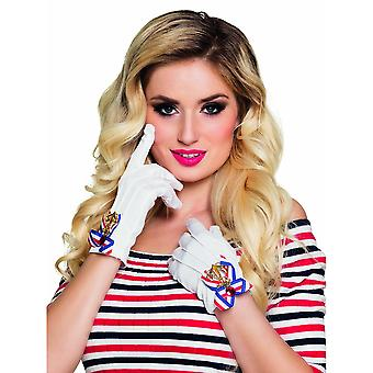 Gants blancs marins femme