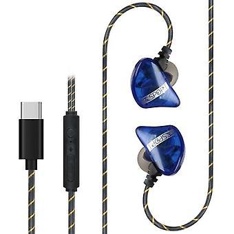 3,5 mm kablet hodesett i øre musikk hodetelefoner smart telefon øretelefon handsfree med mikrofon