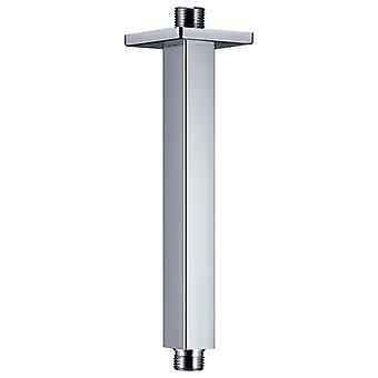 vidaXL Shower Arm Square Stainless Steel 201 Silver 20 cm