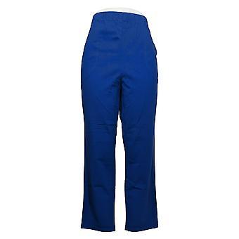 Denim & Co. Women's Petite Pants Waist Stretch Blue A235873