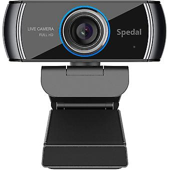 FengChun Webcam HD 1080p, USB Webcam mit Mikrofon Streaming Computer Laptop Kamera für OBS Skype, PC